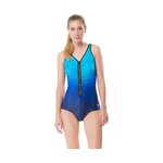 Speedo Fitness Swimsuit PLUNGE ZIP OMBRE