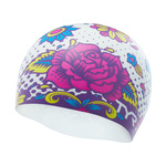 Tyr Silicone Swim Cap FLOWER POWER
