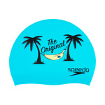 Speedo Silicone Swim Cap TEAL THE ORIGINAL