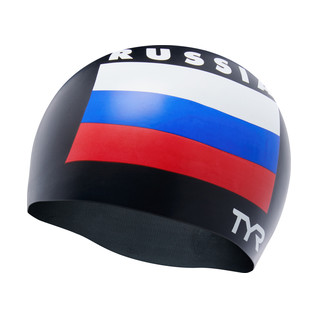 TYR Russia Silicone Swim Cap product image
