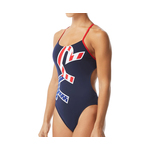 Tyr Swimsuit BIG LOGO USA Cutoutfit