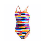 Dolfin Uglies Stripe Life Double Strap One Piece Swmsuit