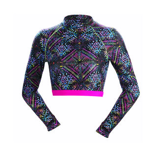 Dolfin Uglies Revibe Star Light Mock Neck Cropped Rash Guard product image