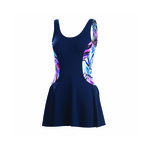 Dolfin Aquashape Swim Dress WYESTERIA COLOR BLOCK
