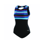 Dolfin Aquashape Blue Multi Stripe High Neck Clasp