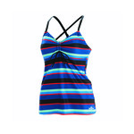 Dolfin Aquashape Blue Multi Stripe Tankini Top