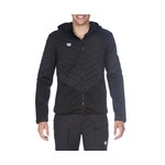 Arena Hooded Full Zip Half Quited Jacket