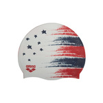 Arena Siilicone Swim Cap USA FLAG