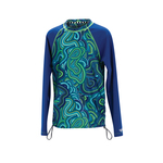 Dolfin Uglies Rash Guard GIRLS WAVES FOR DAYS Long Sleeve