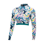 Dolfin Uglies Revibe Swirl Ya Lata Mock Neck Cropped Rash Guard