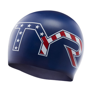 Tyr Stars and Stripes Silicone Swim Cap product image