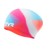 Tyr Tie Dye Long Hair Youth Silicone Swim Cap