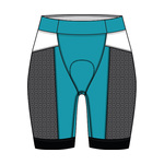 TYR Womens Tri Short Competitor 8in