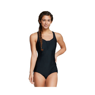 Speedo Nylon/Spandex Solid Touchback One Piece Female product image
