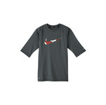 NIKE Boys' Swim Shirt Mash Up Swoosh Hydroguard