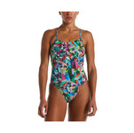 Nike Gemstone Lace Up Tie Back One Piece Swimsuit