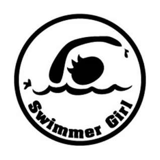 BaySix Swimmer Girl Round Decal product image