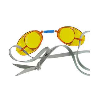 Swedish swim goggles in color amber