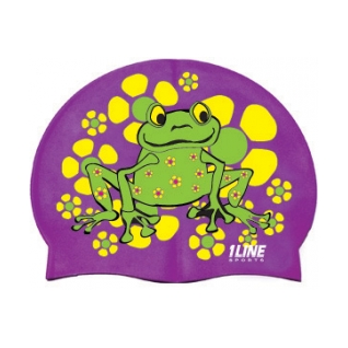 1Line Sports Frog Power Silicone Swim Cap product image