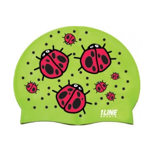 1Line Sports Ladybugs Silicone Swim Cap product image