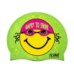 1line Sports Happy To Swim Silicone Cap