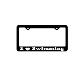 BaySix I Heart Swimming License Plate Frame product image