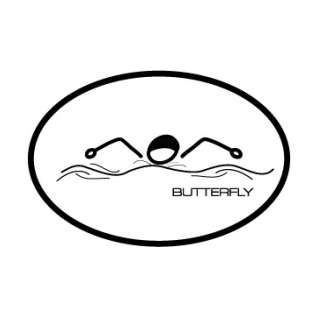 BaySix Butterfly Stick Figure Magnet product image