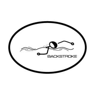 BaySix Backstroke Stick Figure Decal product image