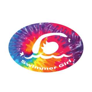 BaySix Swimmer Girl Tie Dye Car Magnet product image