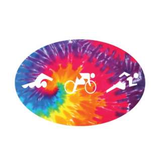 Bay Six Tri Figures Tie-Dye Oval Decal product image