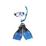 Speedo Adventure Snorkel Mask Fin Combo Set