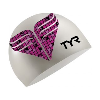 Tyr Pink Check Silicone Cap product image