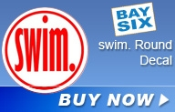 BaySix Swim. Round Decal