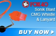 Fox 40 Sonik Blast CMG Safety Whistle with Breakaway Lanyard