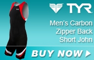 Tyr Carbon Zipper Back Short John Male