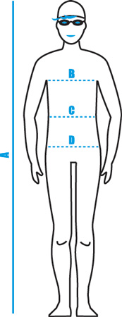 Arena Male Swimwear Body Measurements