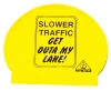 Water Gear Slower Traffic Sign Latex Swim Cap