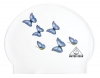 Water Gear Butterflies Latex Swim Cap