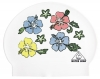 Water Gear Flowers Latex Swim Cap