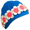 Water Gear Bubble Flower Rubber Swim Cap