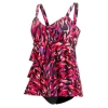 Dolfin Aquashape Ikat Ruffle Tier One Piece Female