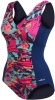 Dolfin Aquashape V-Neck Printed Front Panel Suit Female