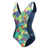 Dolfin Aquashape Botanica V-Neck Printed Front Panel Suit Female