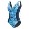 Dolfin Aquashape Iris V-Neck Printed Front Panel Suit Female