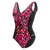 Dolfin Aquashape Ikat V-Neck Printed Front Panel Suit Female