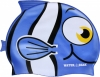 Water Gear Blue Fish Silicone Swim Cap