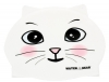 Water Gear White Cat Critter Silicone Swim Cap