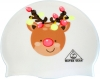 Water Gear Reindeer and Lights Graphic Silicone Swim Cap