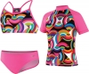 Speedo Circular Motion 3pc Rashguard Set Girls
