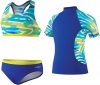Speedo Camo Chameleon Rashguard Three Piece Set Girls